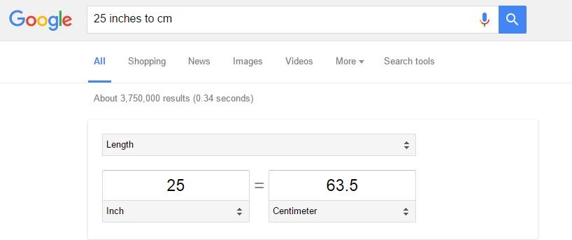 Como converter medidas no google para escolher a roupa certa