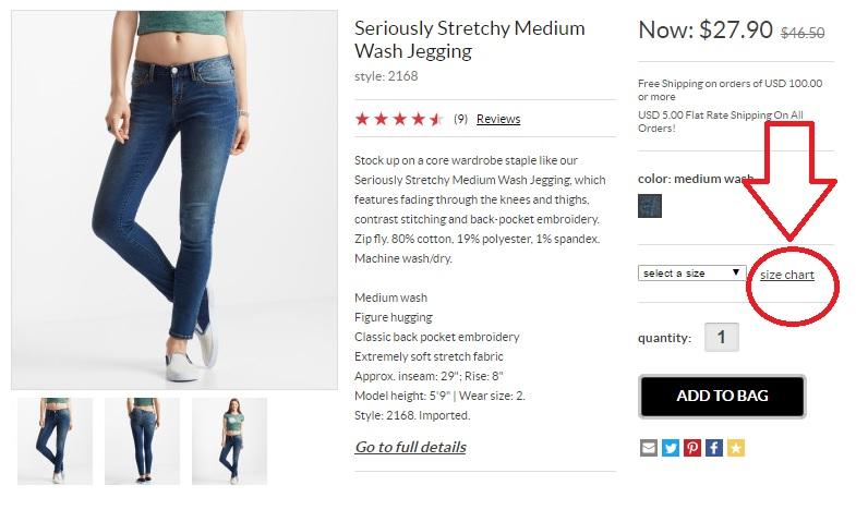 O que é o size chart e como utilizar para importar roupas e calçados