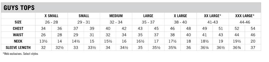 73de48dc0a Tabela de medidas de camisas polo masculinas - queriatanto.com - aeropostale