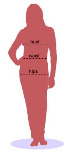 Importar roupas: waist, bust, hips