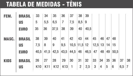 Tabela de conversão de medidas de calçados para importar dos EUA
